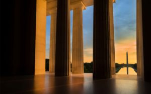 Homepage - Looking Out at Washington Monument